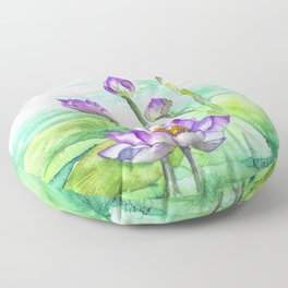 Peaceful Lily Pond Floor Pillow