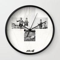 cross Wall Clocks featuring Cross by Anna Pietrzak