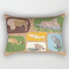Rocky Mountain Wildlife Rectangular Pillow