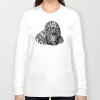 bioworkz Long Sleeve T-shirts featuring Gorilla by BIOWORKZ