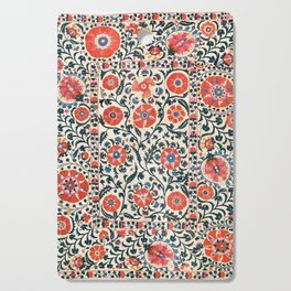 Shakhrisyabz Suzani  Uzbekistan Antique Floral Embroidery Print Cutting Board