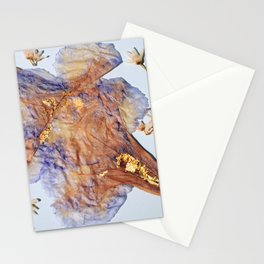 Blue Flowers with 22 kt Gold Stationery Cards
