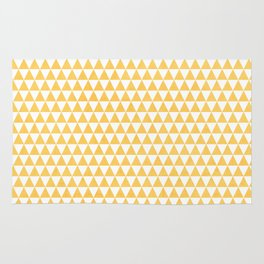 triangles - yellow and white Rug