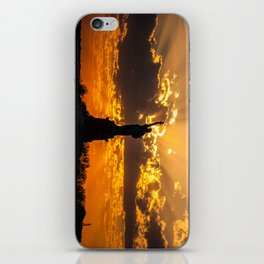 Statue of Liberty sunset in New York Harbor iPhone Skin