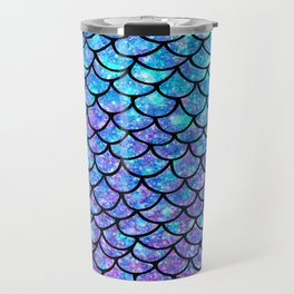 Purples & Blues Mermaid scales Travel Mug