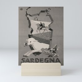 affiche ENIT Sardegna voyage poster Mini Art Print
