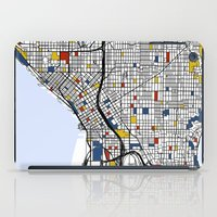 seattle iPad Cases featuring Seattle by Mondrian Maps