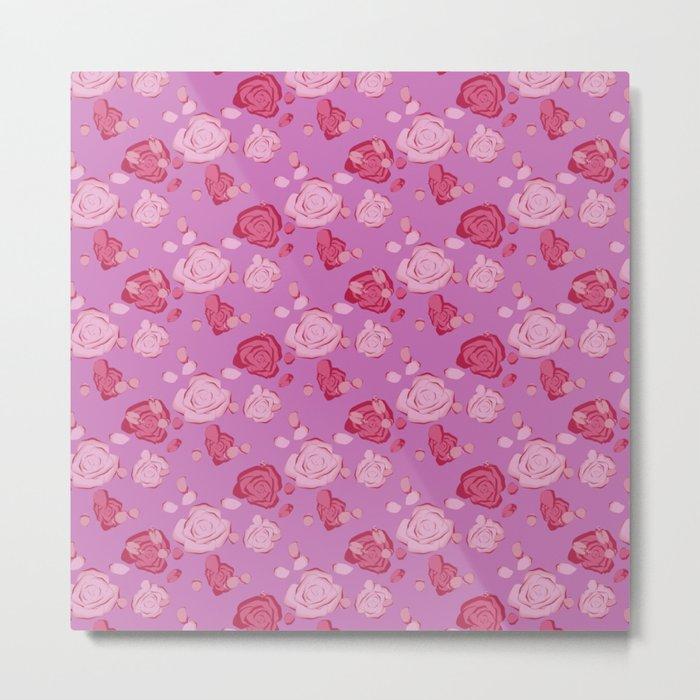 Roses pattern 3c Metal Print