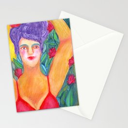 Circus girl Stationery Cards