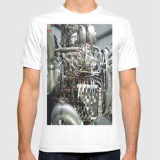 SPACE SHUTTLE ENGINE MEDIUM White Mens Fitted Tee