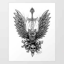 Doom Stryx Art Print