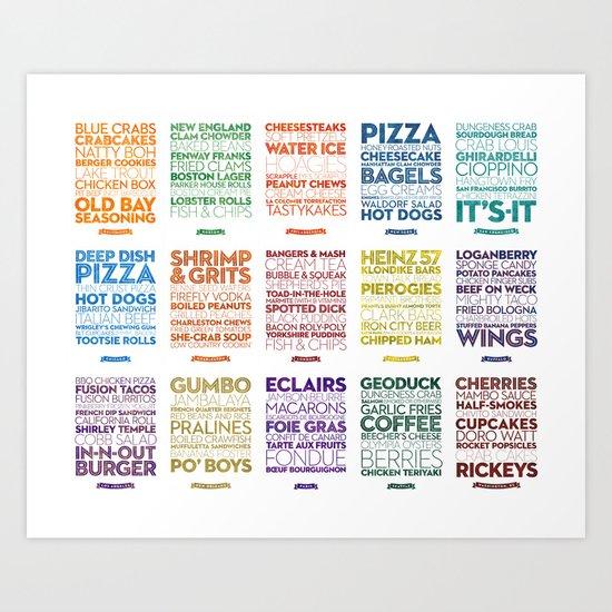 Delicious City Prints: City Grid Art Print