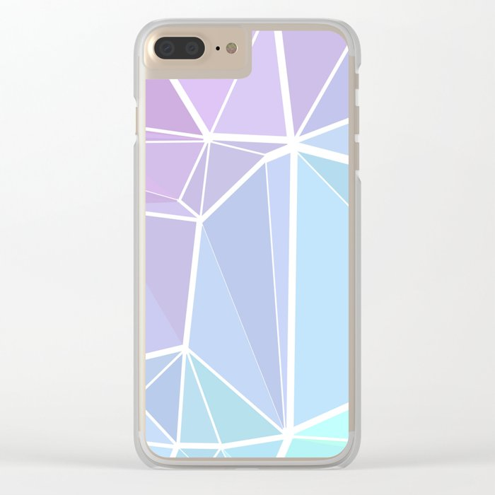 Rainbow Triangles Clear iPhone Case