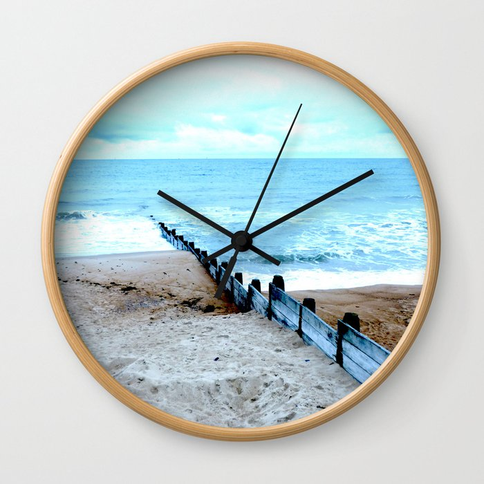Outlook over the North Sea Wall Clock