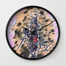Bloodied Justice Wall Clock