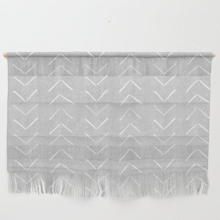Mudcloth Big Arrows in Grey Wall Hanging