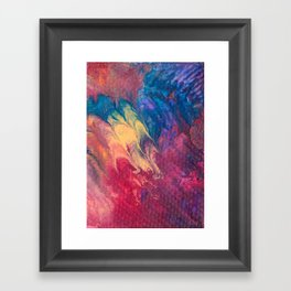 Vibrant Rainbow Colored Flow Painting Framed Art Print