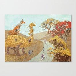 The Night Gardener - Autumn Park Canvas Print