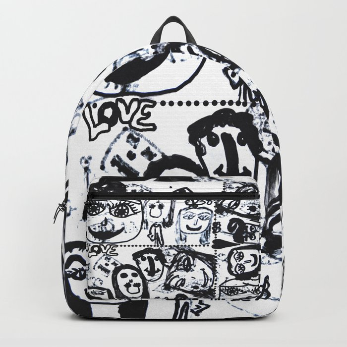 Funny Face | Pop Art | Black and White Backpack
