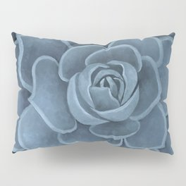 Navy Succulent Pillow Sham