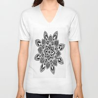 zentangle V-neck T-shirts featuring Zentangle by Cady Bogart