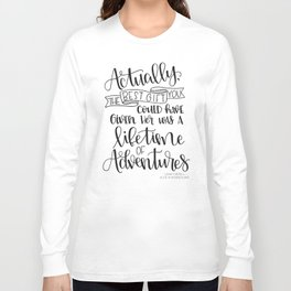 Lifetime of Adventures - Alice in Wonderland Quote Long Sleeve T-shirt