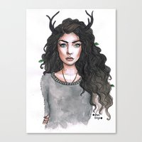 lorde Canvas Prints featuring Lorde by The vintage icon