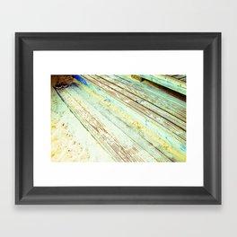 Beach Steps Framed Art Print
