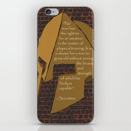 """No man has the right...."" Socrates Quote iPhone Skin"