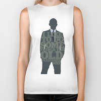 skyfall Biker Tanks featuring Skyfall - James Bond: The Old Fashioned Way by Jon Naylor