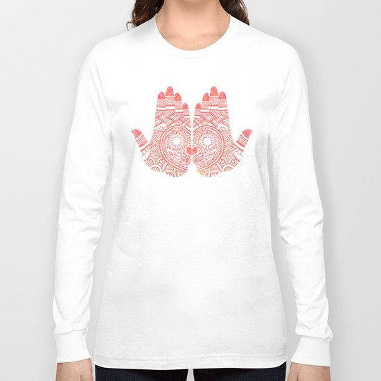 Red Mehndi Long Sleeve T-shirt