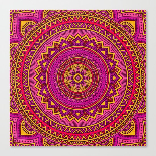 Hippie mandala 25 Canvas Print