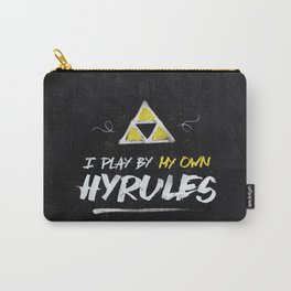 Legend of Zelda Inspired Type I Play by My Own Hyrules Carry-All Pouch