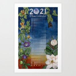 Moon Calendar for 2021 Art Print