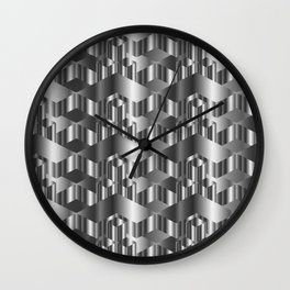 High grade metal texture- reflective mirrored surface Wall Clock
