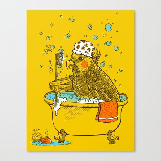 Bird Bath! Canvas Print
