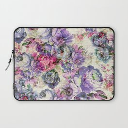 Vintage bohemian rustic pink lavender floral Laptop Sleeve