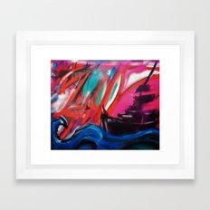 The Sunset Ship Framed Art Print
