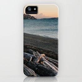 Mount Rainier Sunset iPhone Case