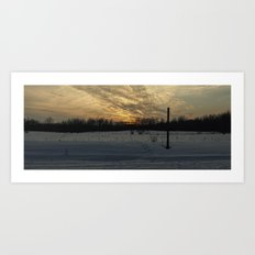 Panoramic Sunset Art Print