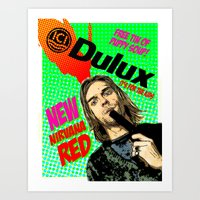 Nirvana Red Art Print
