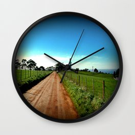 Road to Table Cape Lighthouse Wall Clock