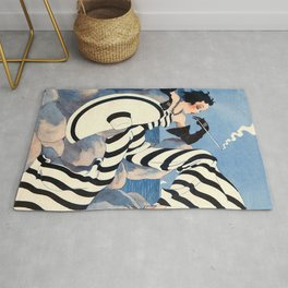 French Art Deco Woman Rug