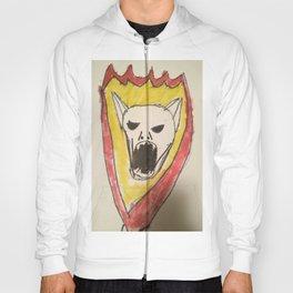 Bat skull skater skater design on hoodies  Hoody