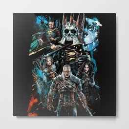 The Witcher Wild Hunt Metal Print