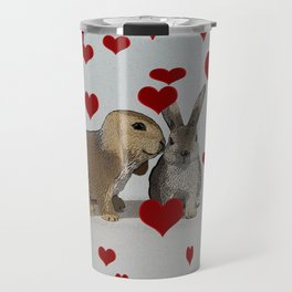 Hearts and Bunnies Travel Mug