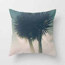 Sun blasted Palm trees Throw Pillow