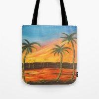 desert Tote Bags featuring Desert by ArtSchool