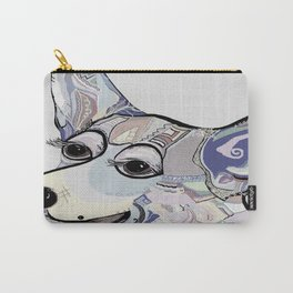Corgi in Denim Colors Carry-All Pouch