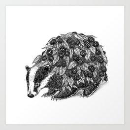 Badger Bush Art Print